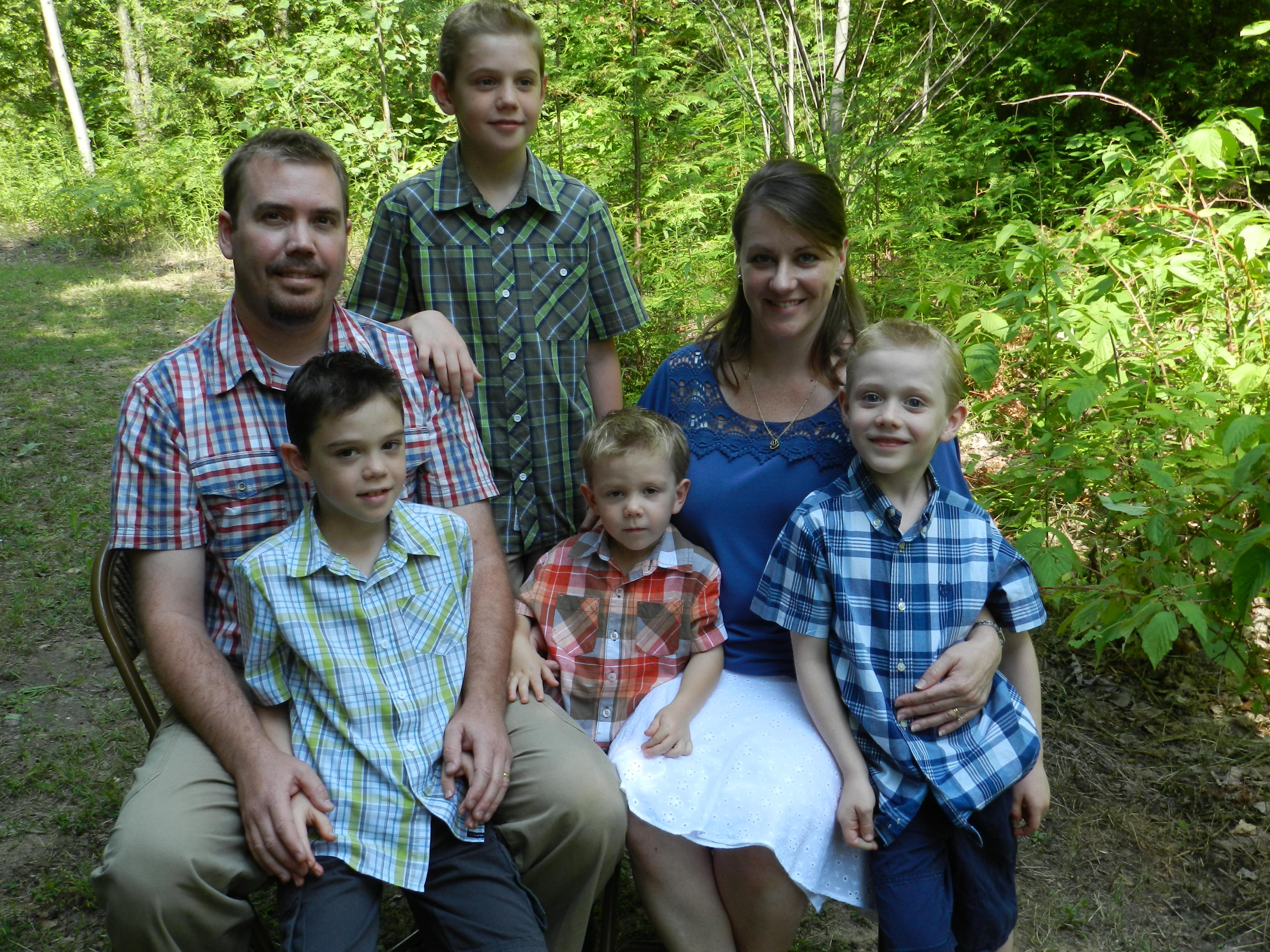 Dan, Anne-Marie, Seth, Josiah, Zephan, and Isaiah