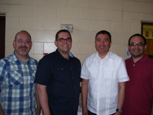 Phil with Pastor Fernando, Julio and Hector
