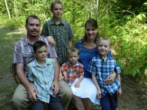 Dan, Anne-Marie, Seth, Josiah, Zephan and Isaiah