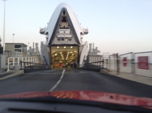 7:00 am Ferry - we had to be there before 6:00!