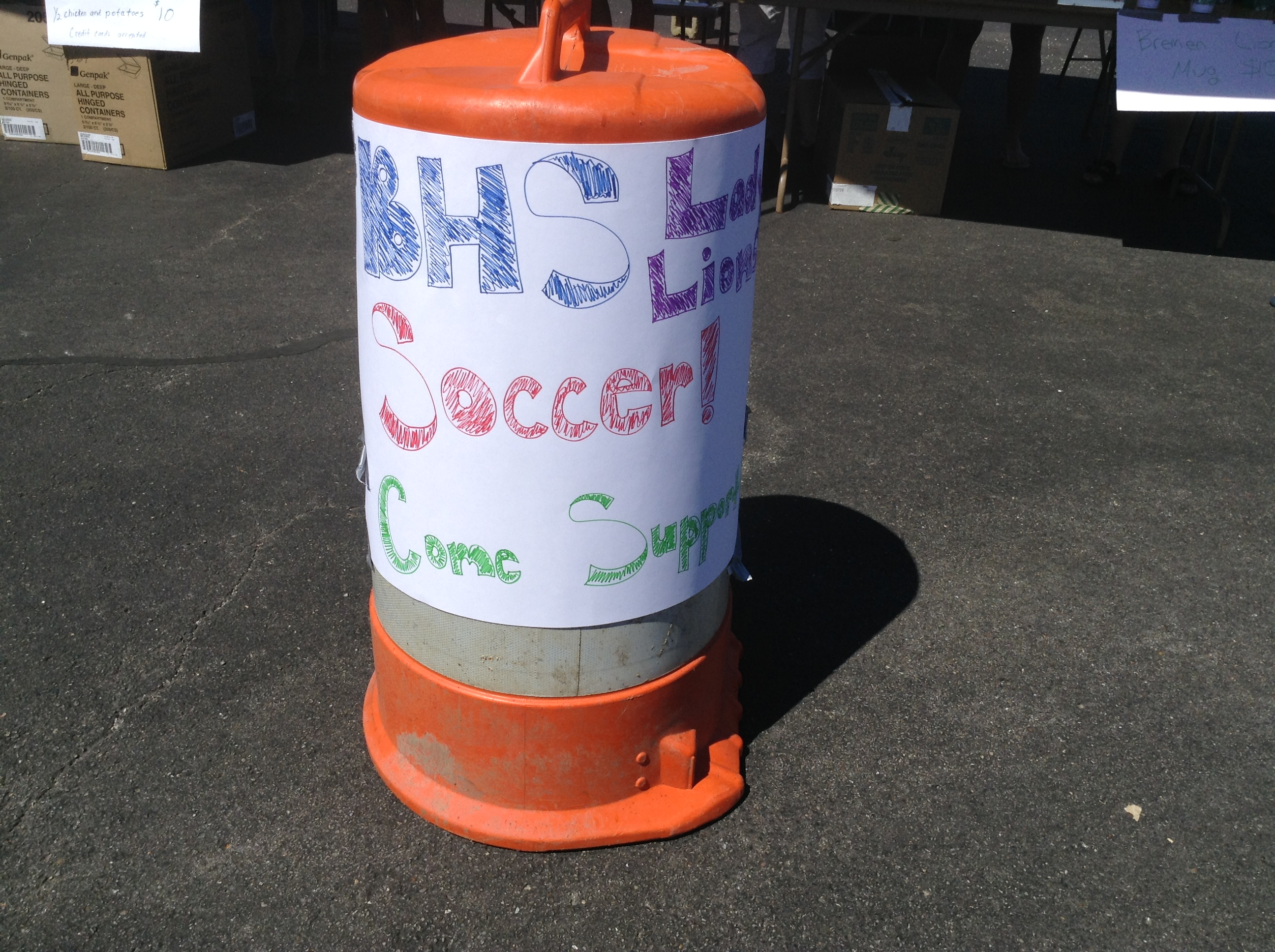 Lunch was in Support of the Bremen High School Soccer Team.