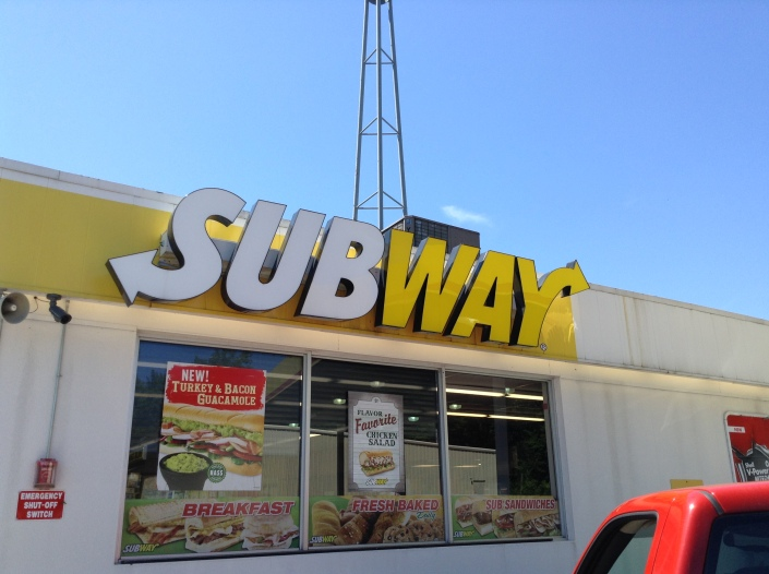 Thanks to a good friend from Lion's Head, we enjoyed lunch at Subway.