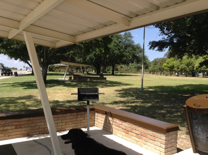 Lunch at a Rest Area near San Antonio, TX