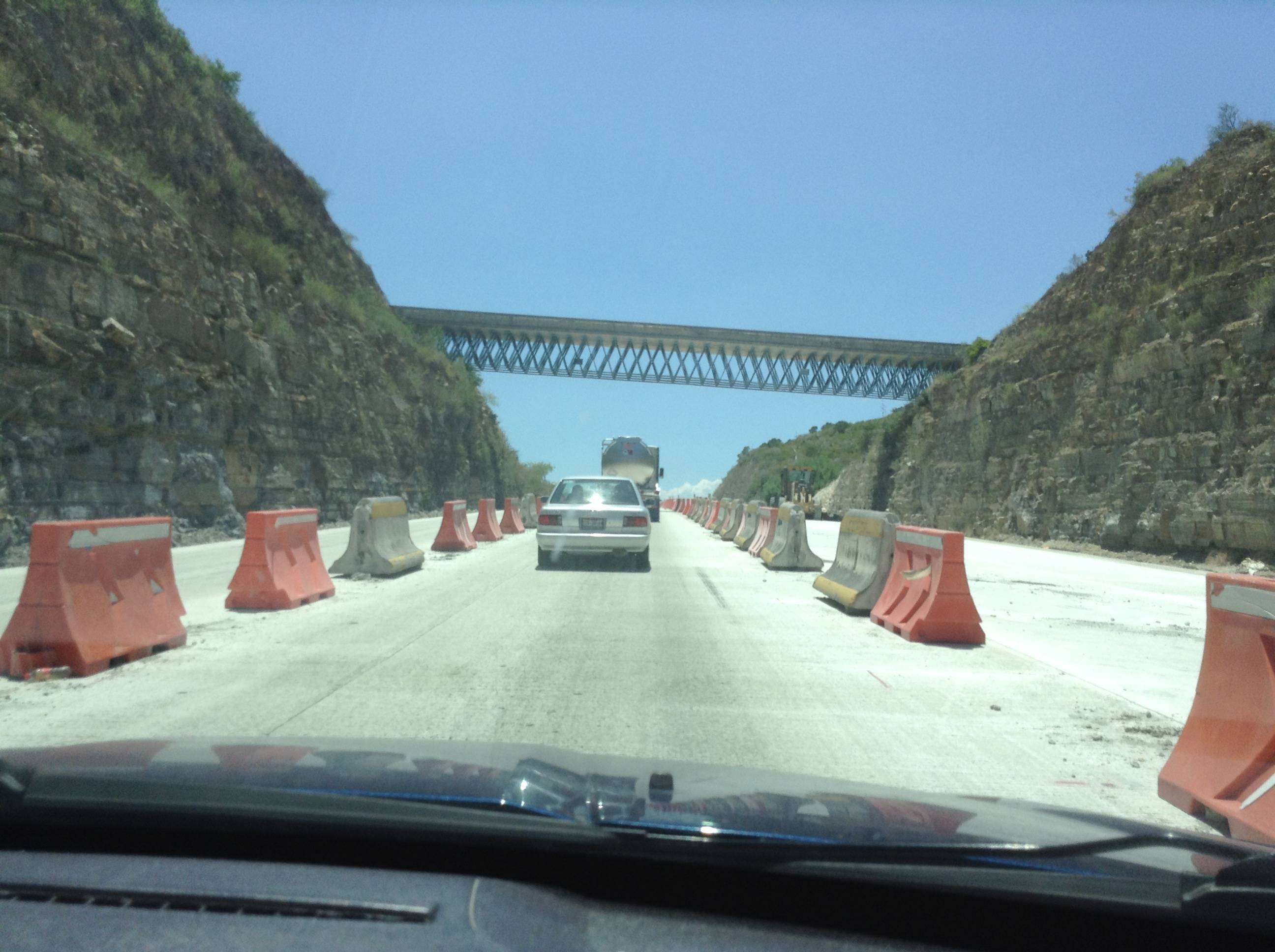 Driving through Hills/Mountains and construction.