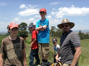Hike up the Hill with the Chapple Boys and our dogs.
