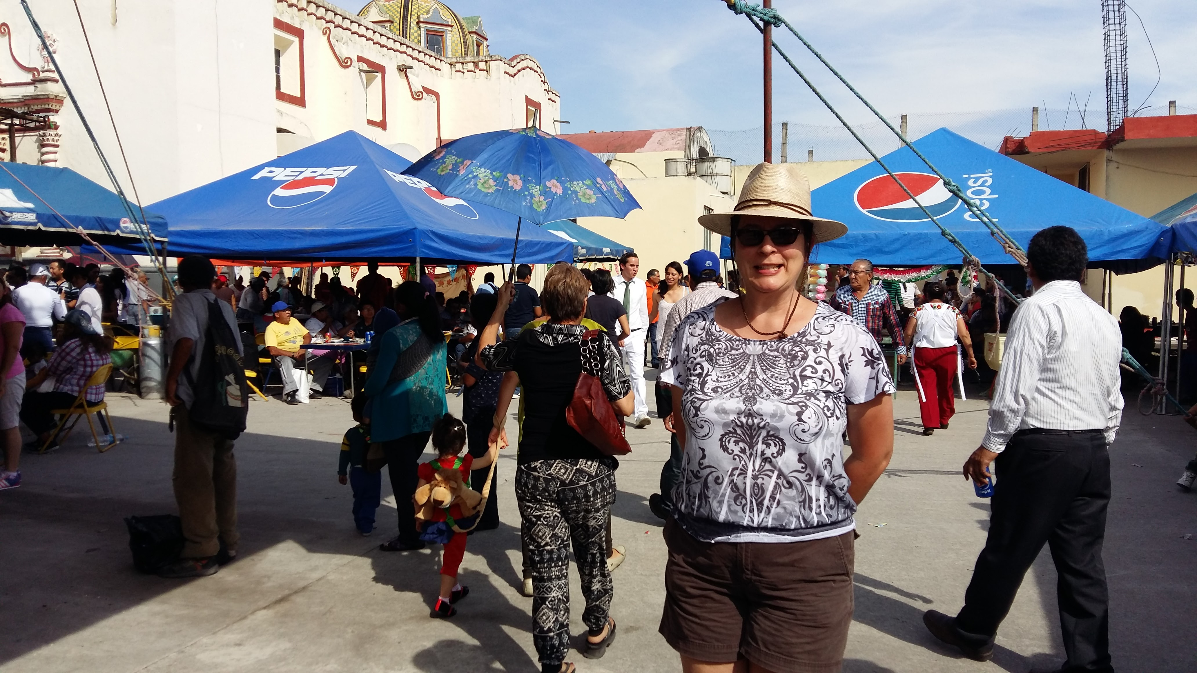 """In the thick of the crowd at a """"Gordita Festival"""" - at a small town near Puebla"""
