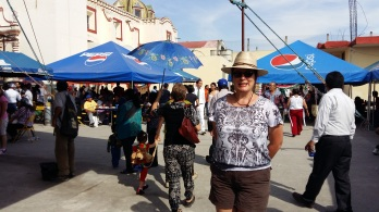 "In the thick of the crowd at a ""Gordita Festival"" - at a small town near Puebla"