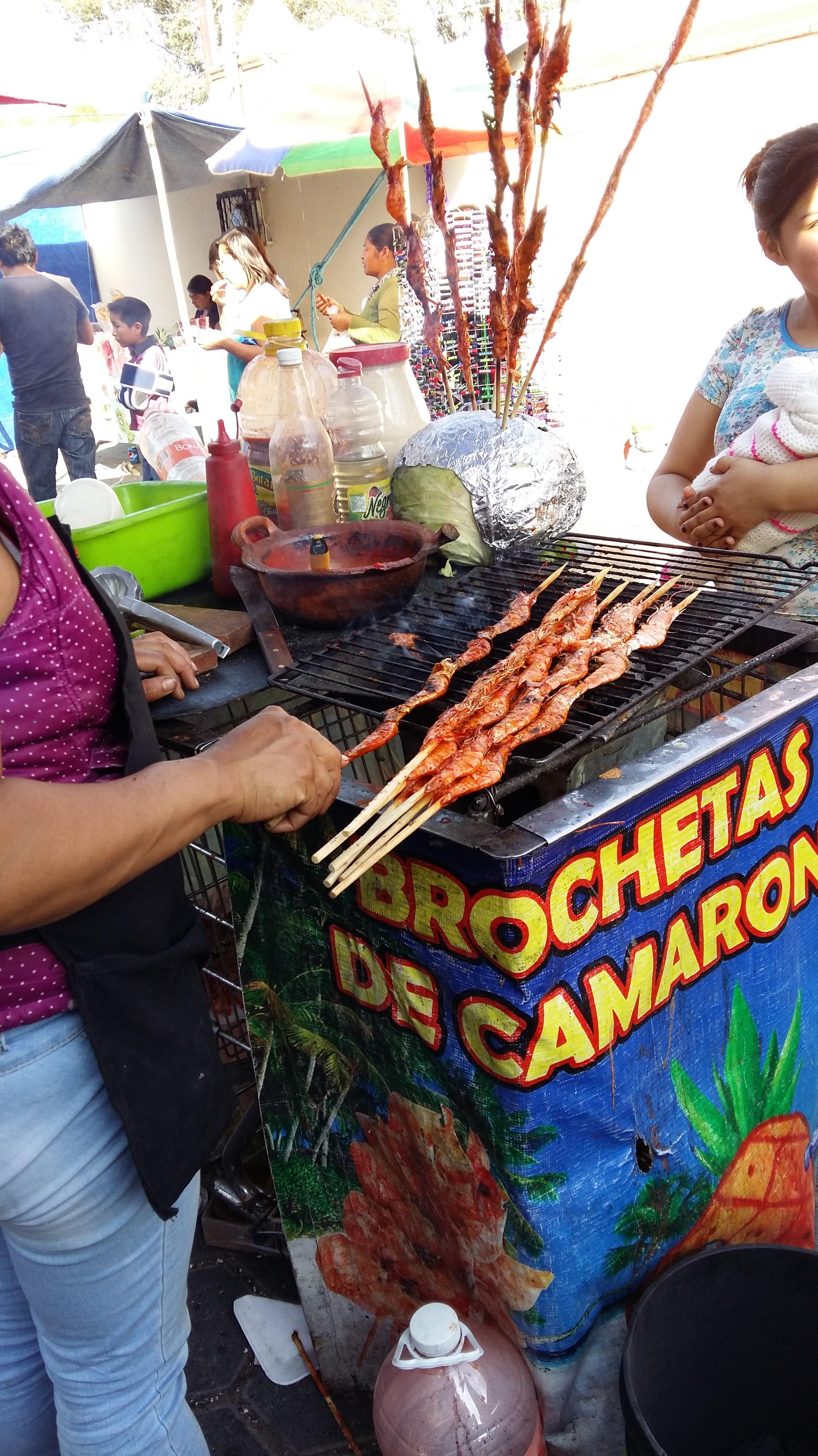 Camarones - shrimp kabobs!