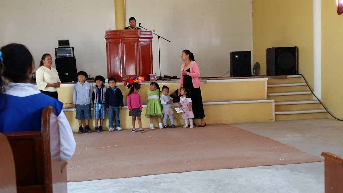 Youngest children sharing what they learned in Children's Church