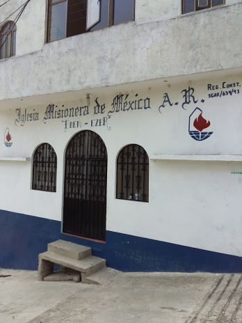 Church in Zacapoaxtla where there are 3 groups working through the training material