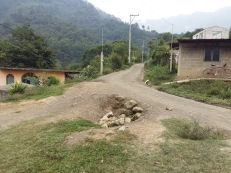 The road to Pazmata was incredibly rough. This was the best part of the dirt road!