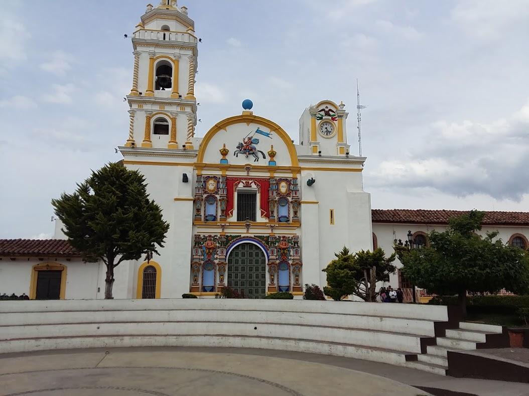 Catholic Church in the centre square Chignahuapan