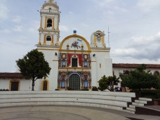 Catholic Church in the centre square Chignahuapan