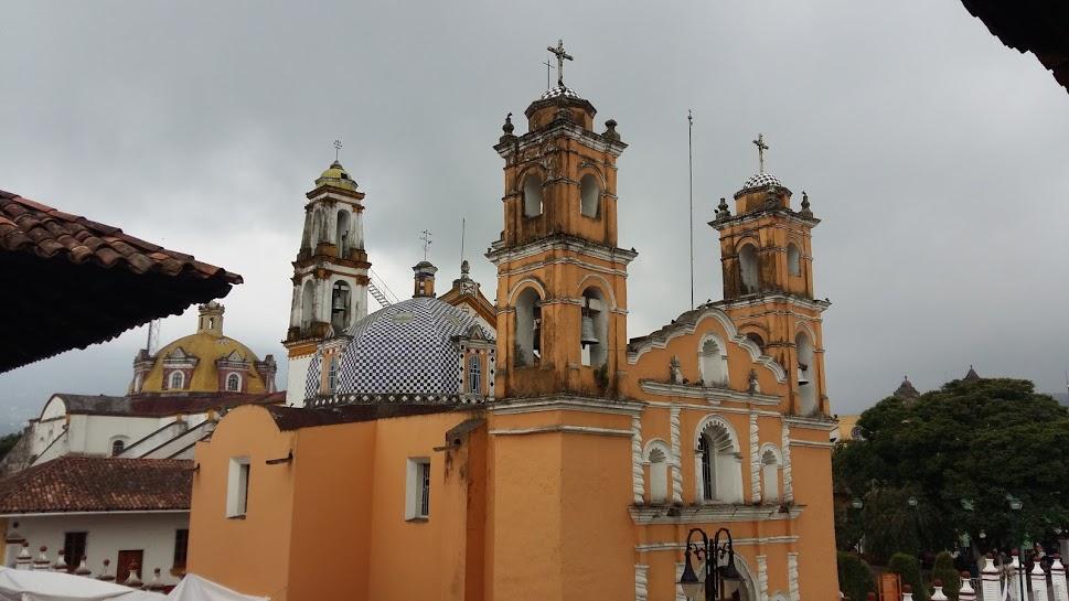 Catholic Church in Zacapoaxtla town square