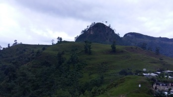 That's the top of the mountain not far from where we slept.