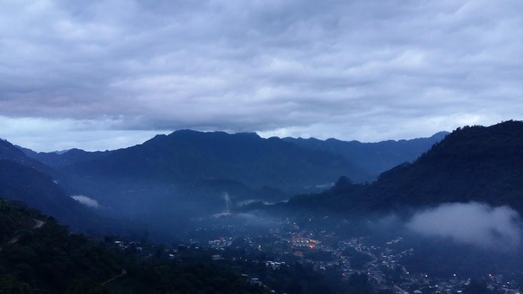 Huitzilan, the town below.