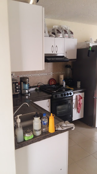 Kitchen - it's smaller, but we're making it very functional