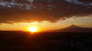 Sunset from La Estrella de Puebla.