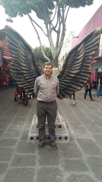 Phil's brother-in-law grew wings on our journey to the market place.