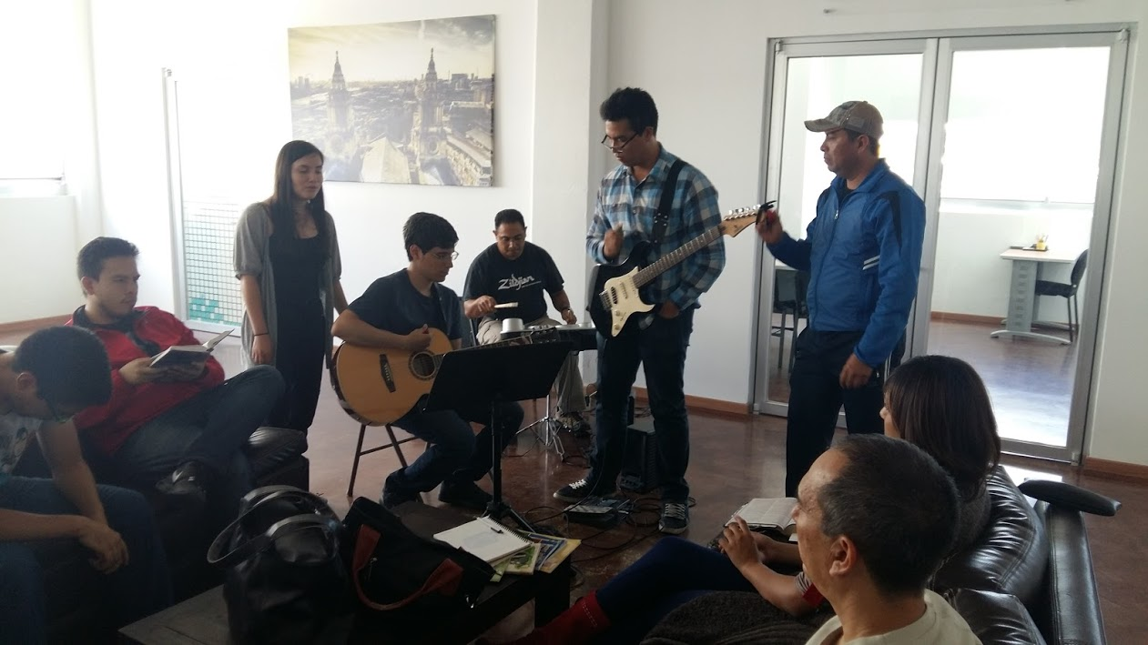 Phil's music workshop with a group from our church.