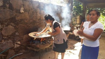 Making tortillas by hand - amazing!