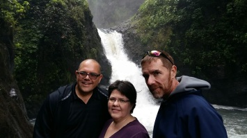 Phil's sister and brother visited over Christmas. Here we are visiting an amazing Water Falls