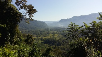 Vista from high up the hill from La Gran Lucha