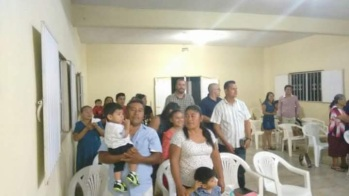 Church service at Pastor Andrés Church