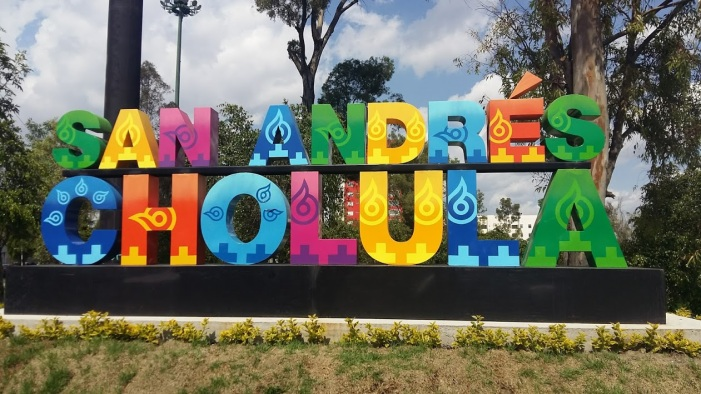 New Sign near our house - we actually live in San Andrés Cholula