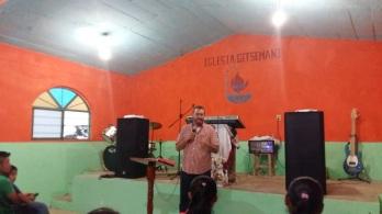 Church in Zapata where Dan preached Sunday pm
