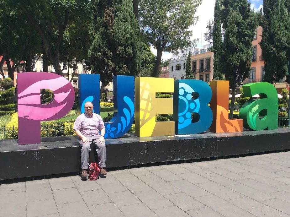 Town square downtown Puebla