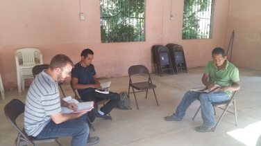 Class with Pastor and one student.