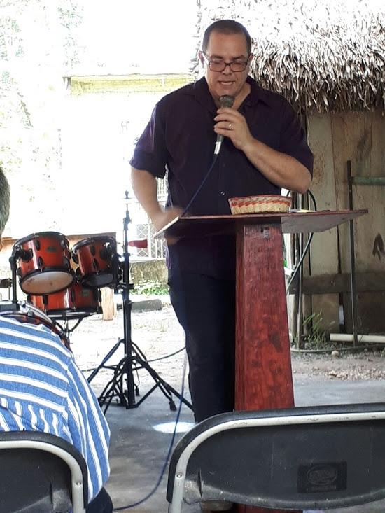 Phil preaching in Gabino Barrera